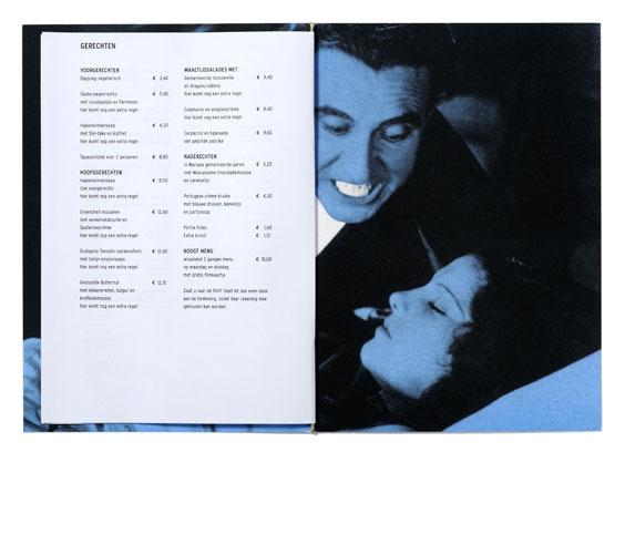 \'t Hoogt menukaart