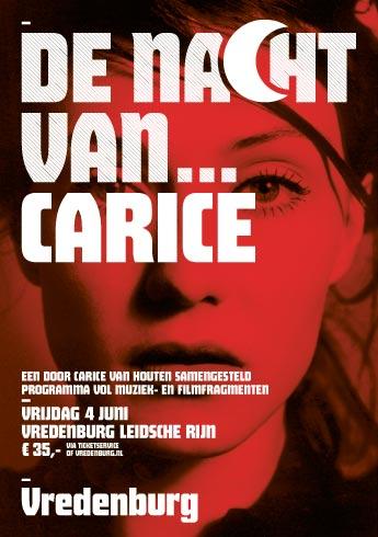 De nacht van Carice - Poster
