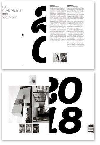 Een jaarverslag in krantvorm - spreads